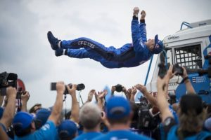 dakar dakar 2018 truck winner eduard nikolaev team kamaz master celebrates his win
