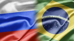 russia brazil flags