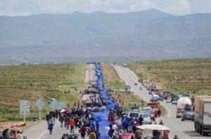Pueblo boliviano realiza el Banderazo por el Mar