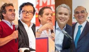 Candidatos en Colombia