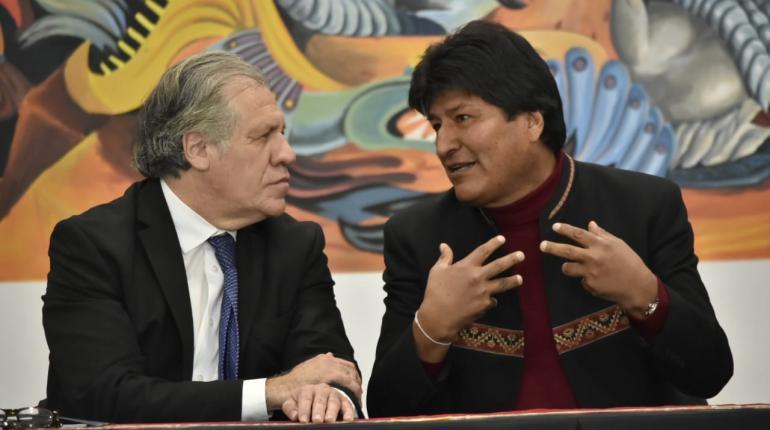 Луис Альмагро и Эво Моралес