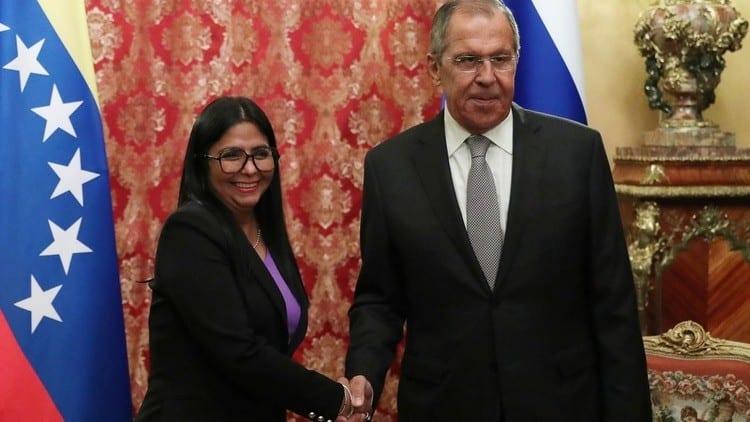 Delcy Rodriguez reunion con Lavrov 1920 2 2