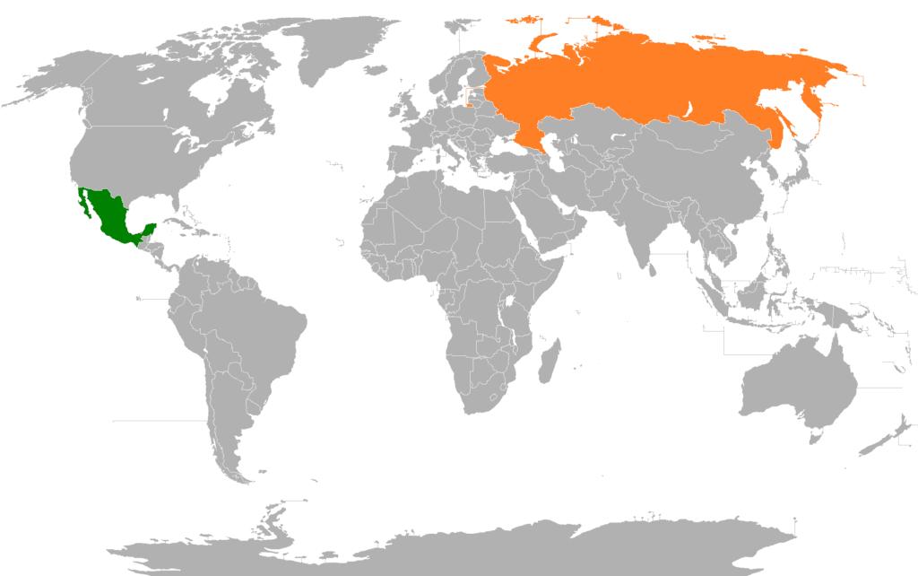 Mexico Russia Locator 2