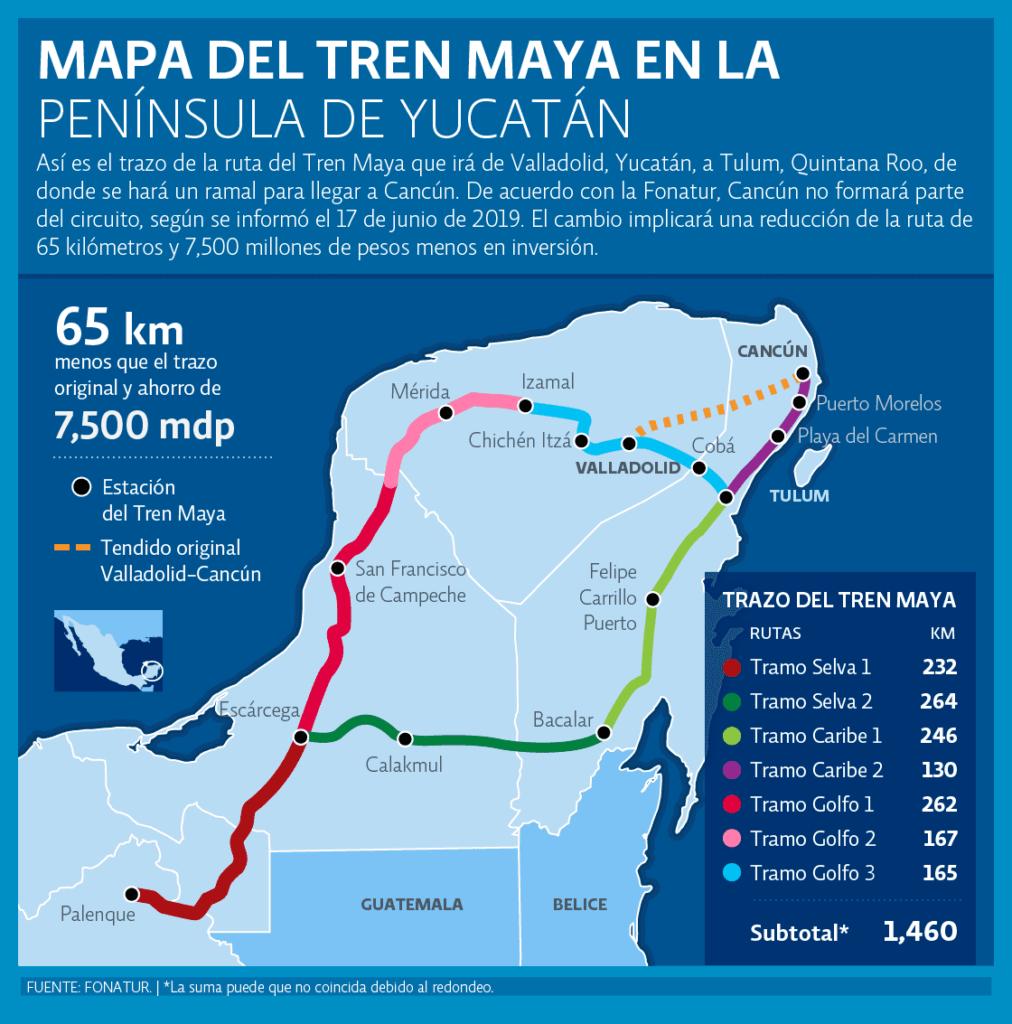 Mapa del Tren Maya