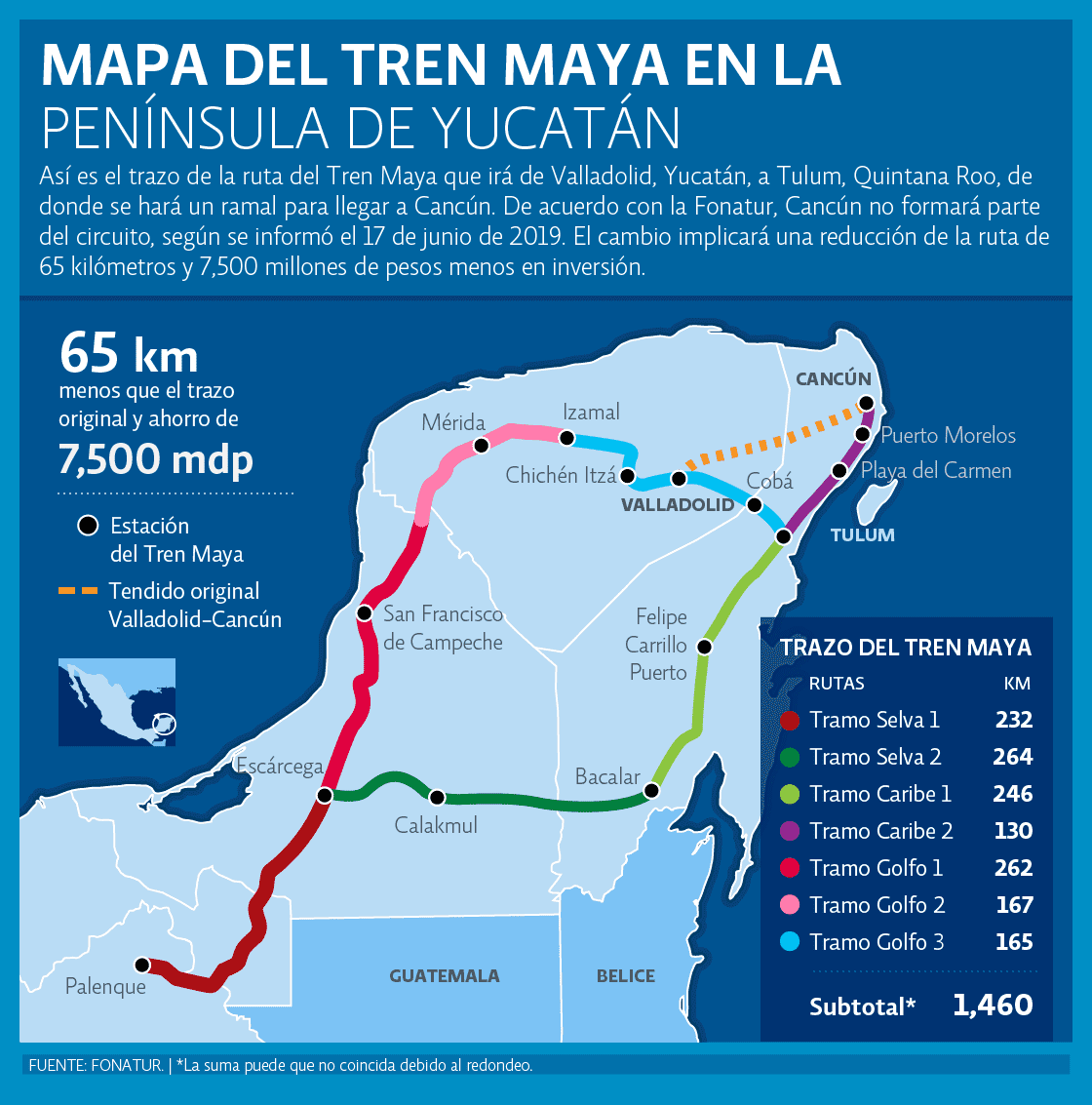 mapa tren maya