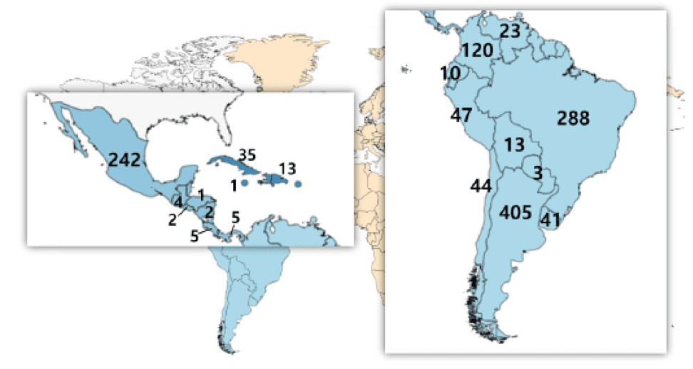 Number of qualified nuclear medicine professionals in Latin America