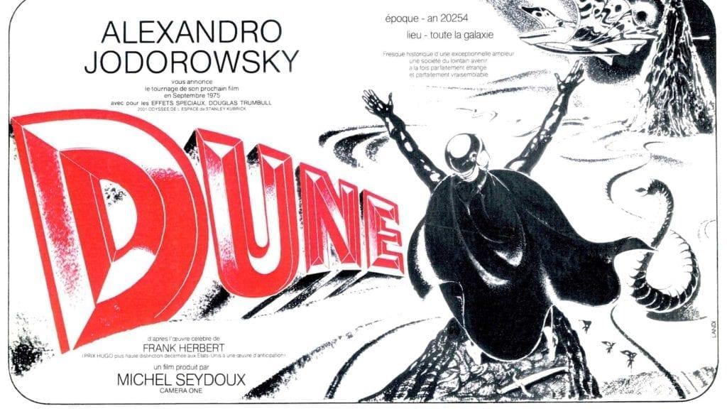 Cartel original de Dune de Alejandro Jodorowsky.