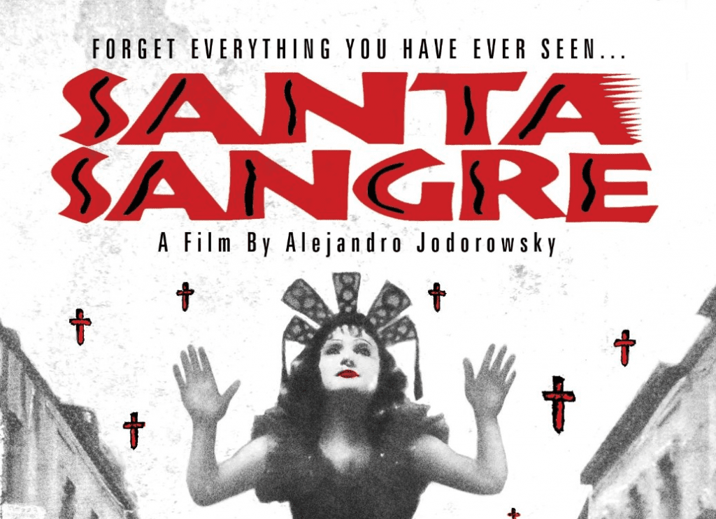Fragment of the film 'Holy Blood' cover.